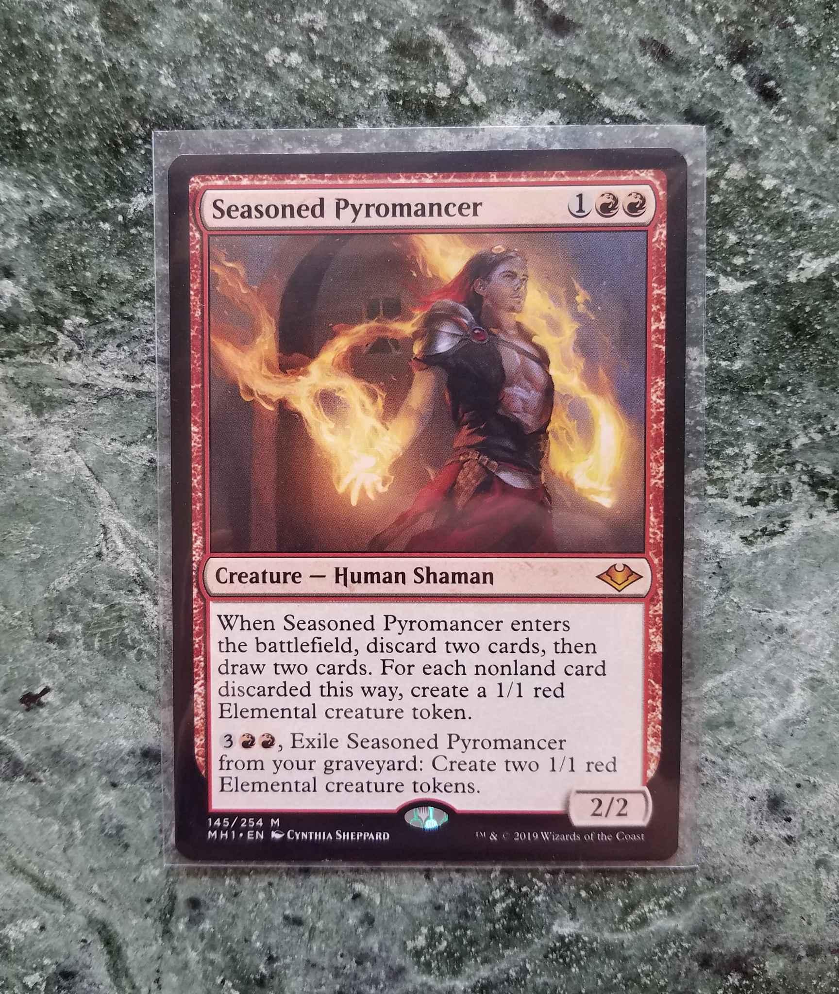 SEASONED PYROMANCER Modern Horizons Magic MTG MINT CARD