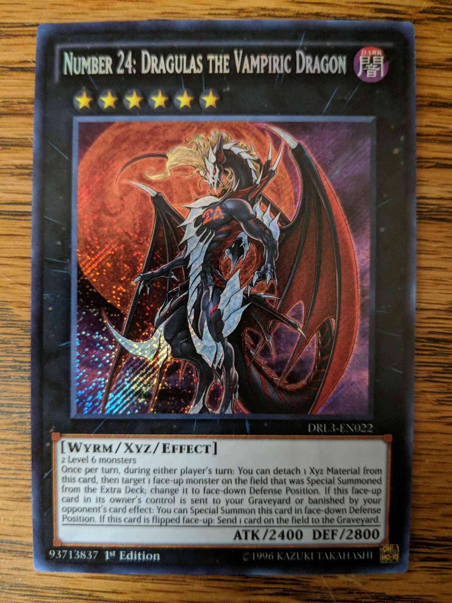 3x Number 24: Dragulas the Vampiric Dragon Purple - DLCS-EN118 Ultra Rare