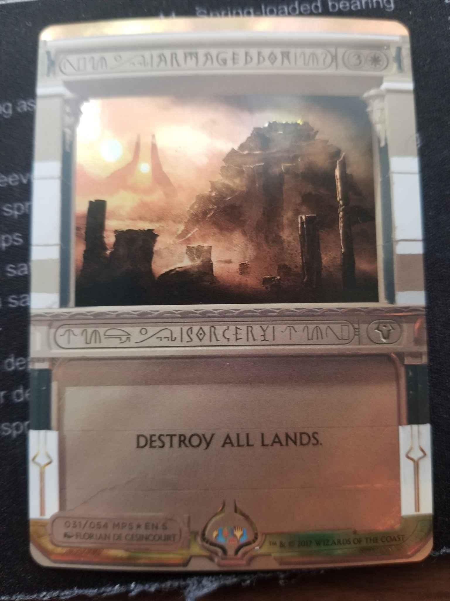 Armageddon MTG Magic the Gathering Masterpiece: Invocations Foil