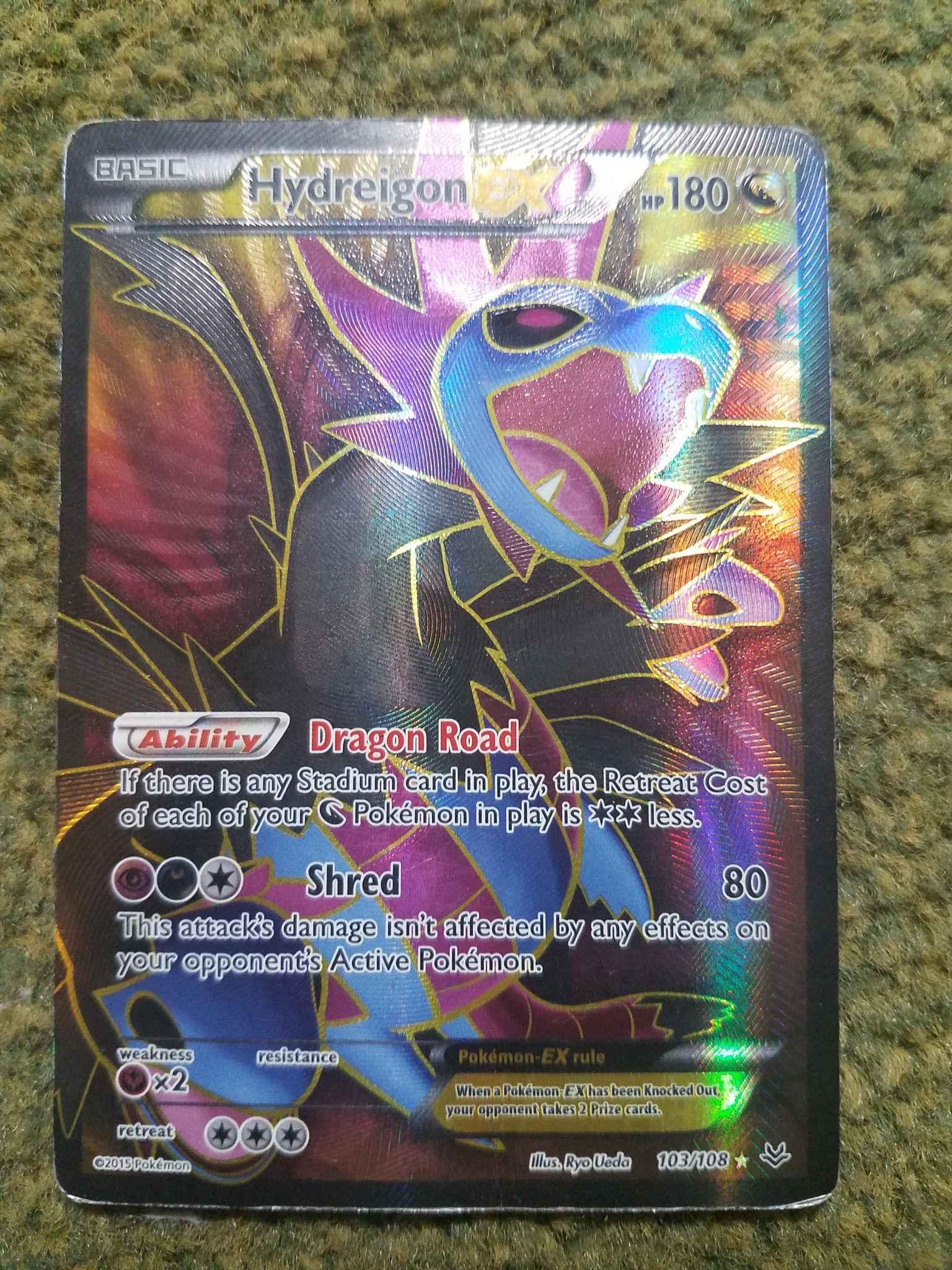 PTCGO, Digital Card FA Hydreigon EX Full Art 103//108 for Pokemon TCG Online
