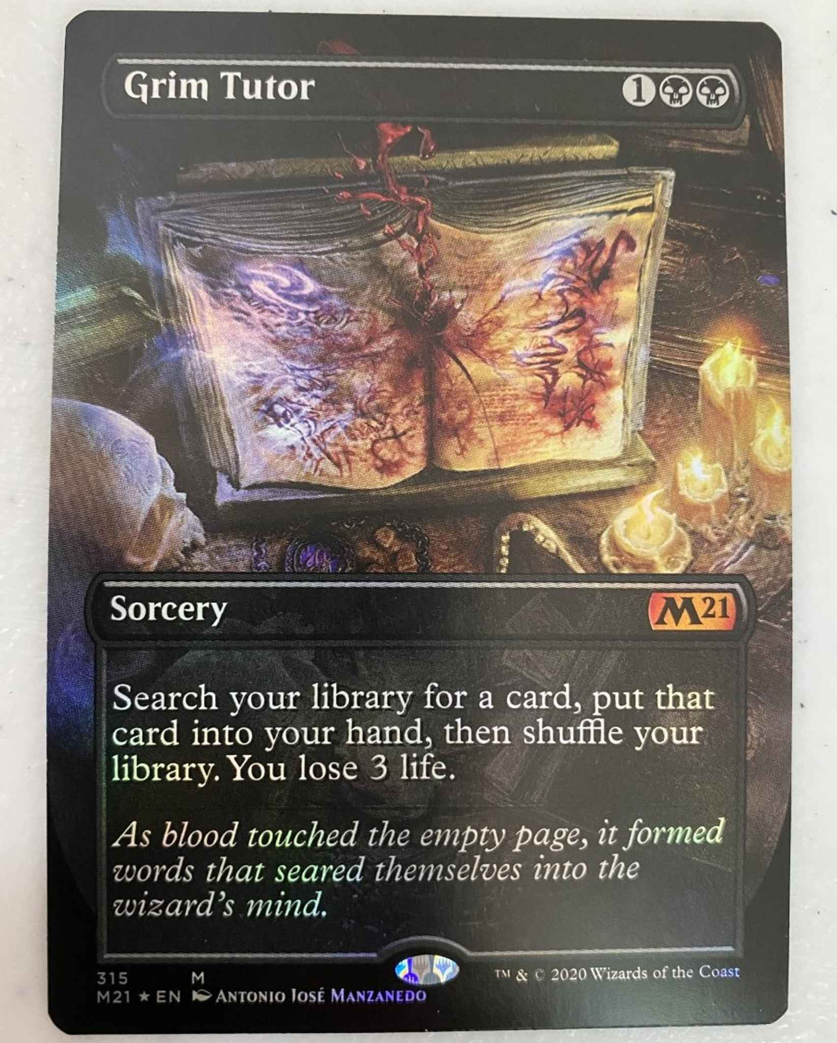 1x Foil Grim Tutor Magic MTG Core Set 2021 Normal Border