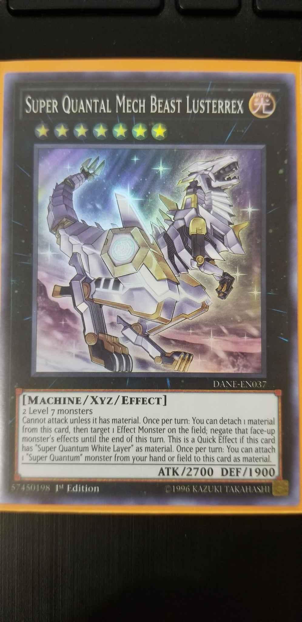 DANE-EN037 Super Quantum Mech Beast Lusterrex Dark Neostorm Yu-Gi-Oh!