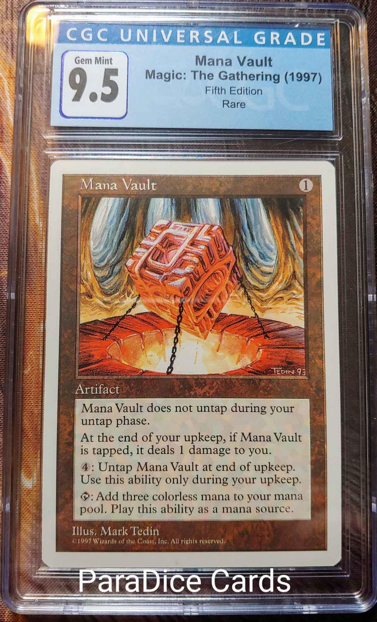 MANA VAULT Fifth Edition MTG Artifact RARE
