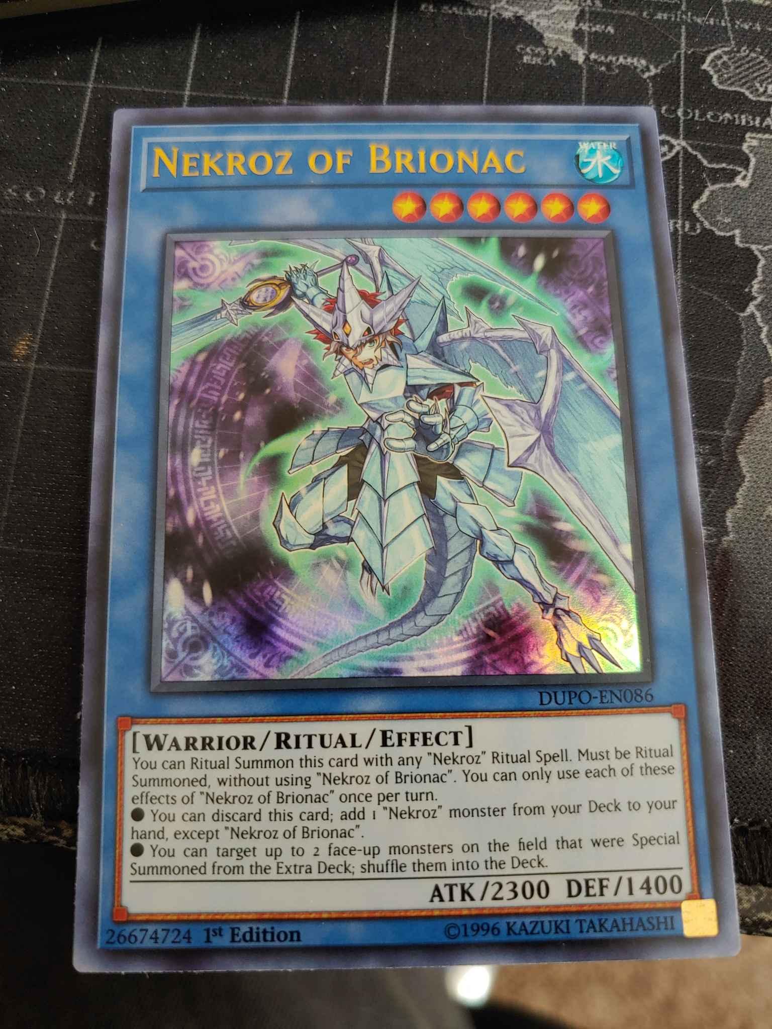 Yugioh Nekroz of Brionac DUPO-EN086 Ultra Rare 1st Edition